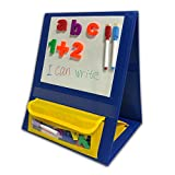 Godery Magnetic Desktop Tabletop Pocket Chart Stand, Double Sided Small Pocket Chart for Classroom Home (15' X 12.5')