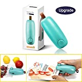 ColorGo Chip, 2 in 1 Hand Held Mini Portable Heat Sealer for Plastic Bags Food Storage Resealer with Safety Lock [Upgrade Version and Patent, Sex Toys, Green