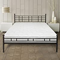 Best Price Mattress 8 Euro Top Pocketed Coil Spring Mattress and Easy Set-up Steel Platform Bed/Steel Bed Frame [Model H] SET - Full