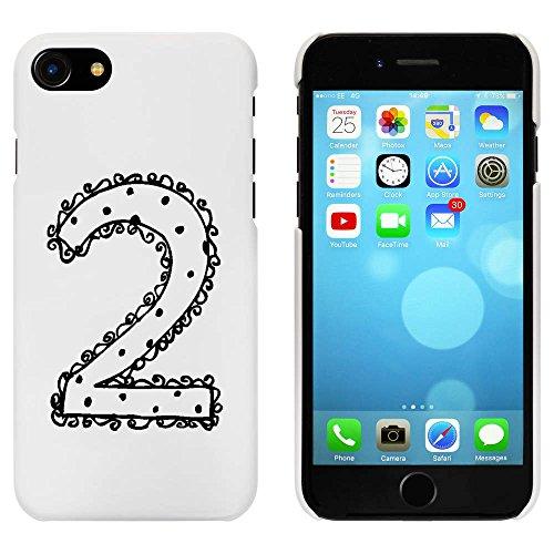 Blanc 'Numéro 2' étui / housse pour iPhone 7 (MC00065818)