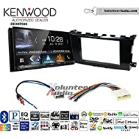 Volunteer Audio Kenwood DDX9704S Double Din Radio Install Kit with Apple Carplay Android Auto Fits 2013-2015 Nissan Altima