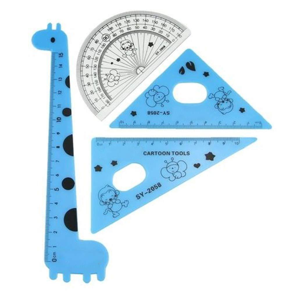 Tofree Cartoon Giraffe Lineal Set Messwerkzeuge f/ür Studenten zuf/ällige Farbe