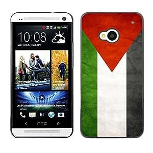 YOYO Slim PC / Aluminium Case Cover Armor Shell Portection //Palestine Grunge Flag //HTC One M7