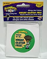 Allermates Wheat Gluten Free Sticker 24 ct