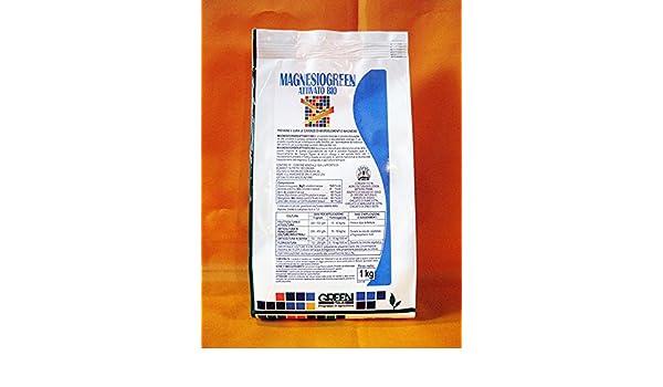 magnesiogreen (solfato de magnesio + microelementi) (1 kg), Abono idrosolubile para plantas y flores: Amazon.es: Jardín