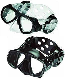 Pro Ear Scuba Diving Mask for all around Ear Protection - All Black Scuba Div.