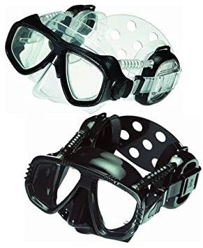 e0c88728f0 IST Pro Ear Diving   Snorkelling Mask in Black Clear Skirt  Amazon.co.uk   Sports   Outdoors