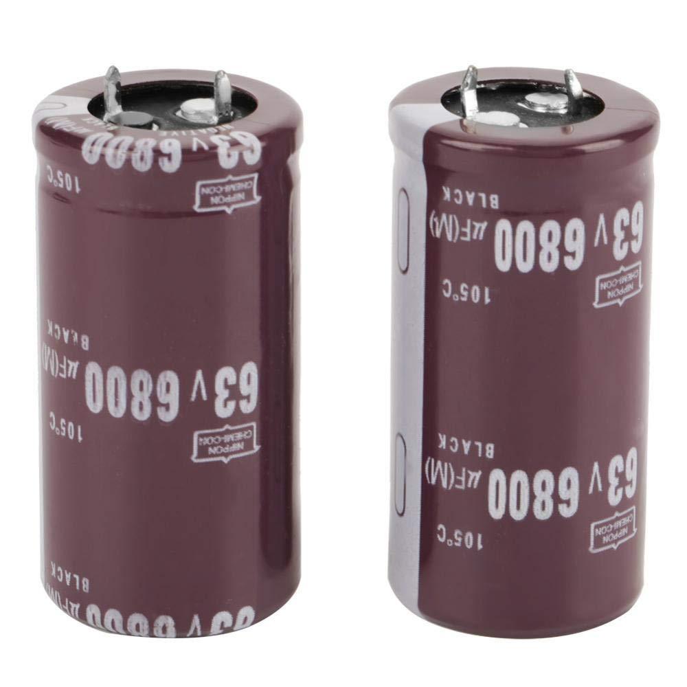 circuito di controllo accoppiamento Condensatore elettrolitico 2,5 x 5 cm bypass 2 pezzi 63 V 6800 uF Condensatore per blocco filtro conversione di energia circuito di sintonizzazione