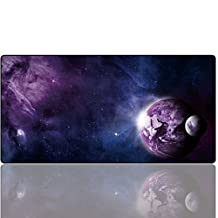 Cmhoo XXL Gaming Mouse Mat Extended & Extra Large Mouse Pad (80x40 sky planet)