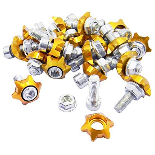 - Shells 20PCS Motorbike License Plate Frame Bolt Screw Auto Car Decorate Hex Head Bolts Screws Fasteners,Stars Gold
