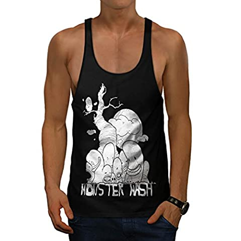 Cute Monster Mash Comic Smiley Men S Gym Tank Top   Wellcoda (The Monster Mash Pixie)