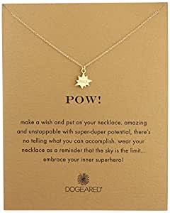 Dogeared Pow Necklace Pow Gold, 18""