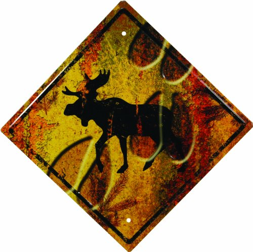 - River's Edge 1487 Moose Crossing Tin Sign