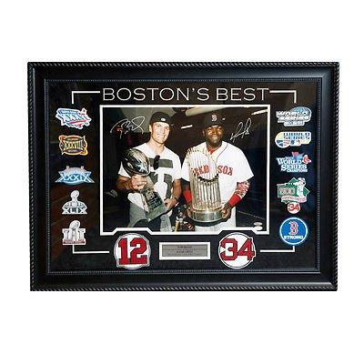 Tom Brady David Ortiz Signed Autographed Boston?s Best 16x20 Framed