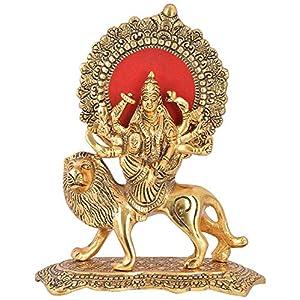 CraftVatika Durga Devi Maa Murti Showpiece Sherawali Ma Kali Decorative Statue for Navratri Home Diwali Decoration Items and Diwali Gifts for Family and Friends