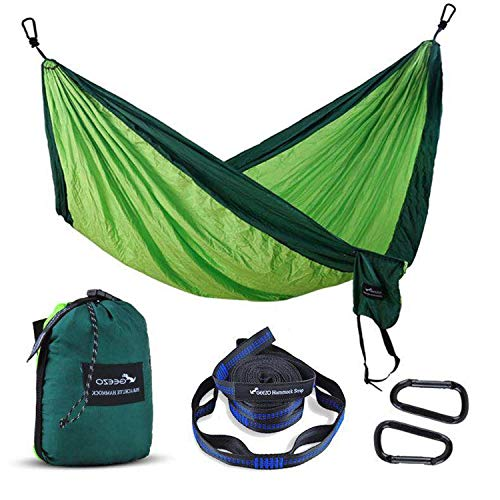 Geezo Camping Hammock, Lightweight Portable Single&Double Hammocks Parachute for Backpacking,...