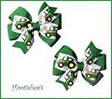 Tractor Toddler Hair Bow Set (Red or Green)