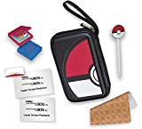 (US) RDS Industries, Nintendo 3DS Game Traveler Essentials Pack - Black Pokeball
