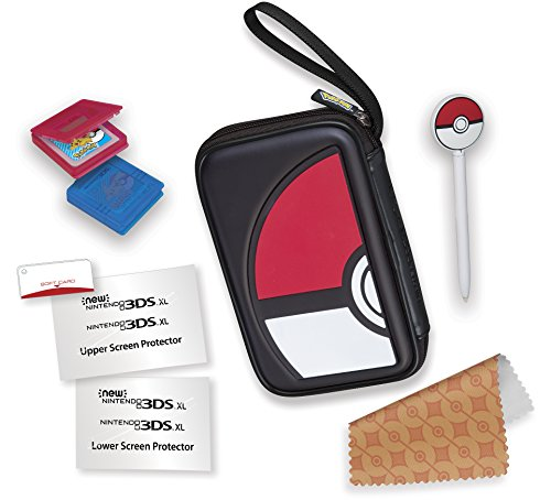 RDS Industries, Nintendo 3DS Game Traveler Essentials Pack - Black Pokeball (Pokemon Gen 1 Cards compare prices)
