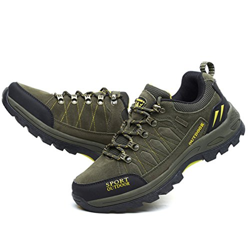 adulto caño oscuro verde botas XIGUAFR de Unisex bajo qFfUXxn