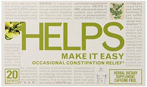 Helps Herbal Teas, Make It Easy, 20 Count (Pack of 6) by Helps