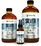 Naturally Sourced Best Colloidal Silver Natural Immune Support Supplement, Ionic Silver 10 PPM, 4 fl.oz. in GLASS Spray Bottle. Safe for Adults, Children, all Pets and Plants!