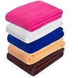 DODOING Microfiber Bath Towels Set(1 Pack), Quick Dry Bath Towel Perfect for Home, Hotel, Bathrooms, Sauna, Pool, Beach and Gym 70x140cm(Coffee)