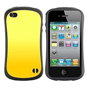 Suave TPU GEL Carcasa Funda Silicona Blando Estuche Caso de protección (para) Apple Iphone 4 / 4S / CECELL Phone case / / Yellow background /