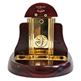 Table Top V Cutter Mesa Chabeta High Gloss Rose Wood with Gold Trim