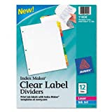 Avery : Index Maker Dividers, Multicolor 12-Tab, Letter -:- Sold as 2 Packs of - 12 - / - Total of 24 Each