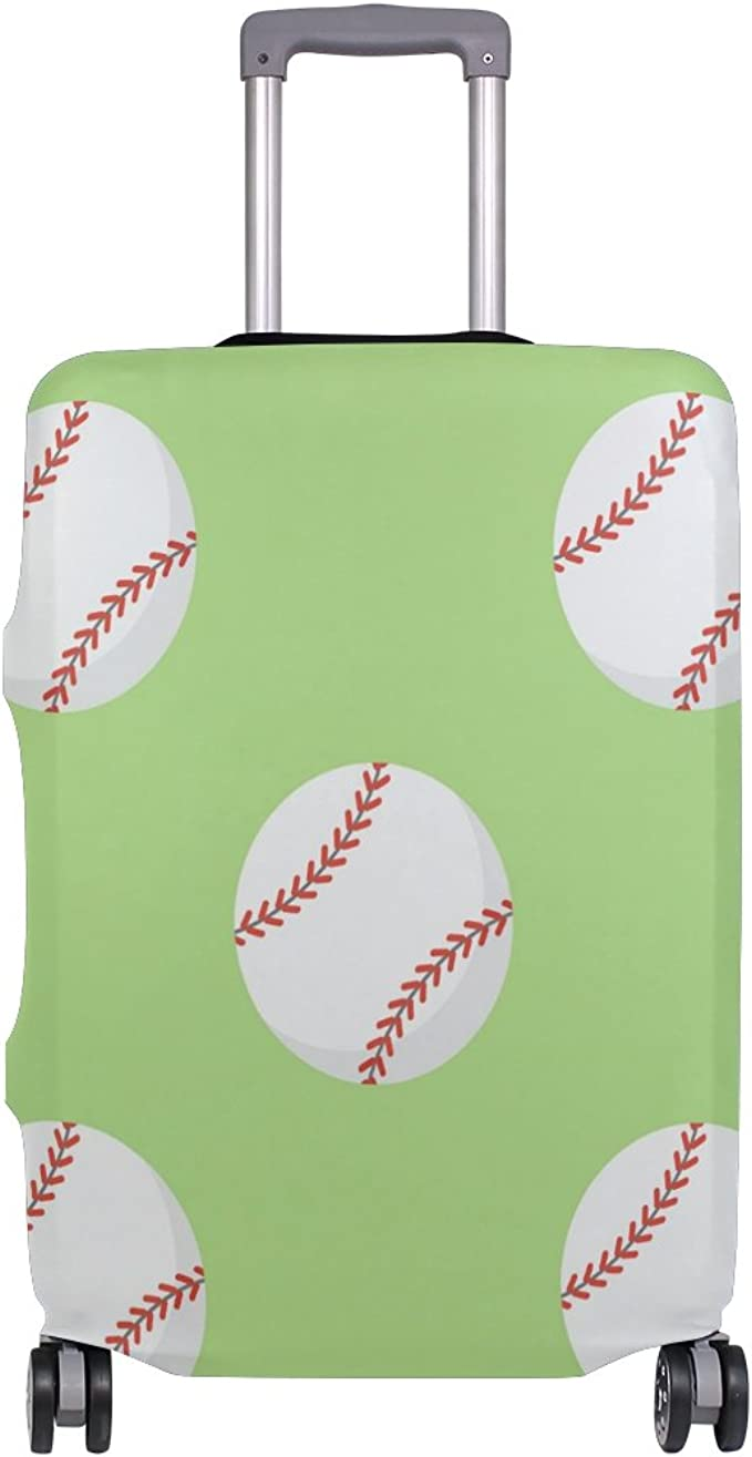 Elastic Travel Luggage Cover Baseball Balls Suitcase Protector for 18-20 Inch Luggage