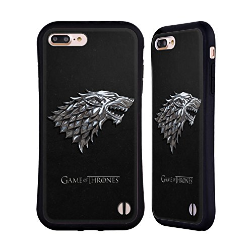Price comparison product image Official HBO Game Of Thrones Silver Stark Sigils Hybrid Case for Apple iPhone 7 Plus