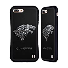 Official HBO Game Of Thrones Silver Stark Sigils Hybrid Case for Apple iPhone 7 Plus