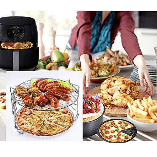 Buecmue Dehydrator Stand For Ninja Foodi Accesories, 6.5 qt & 8 qt, Food Grade Stainless Steel Five Layers