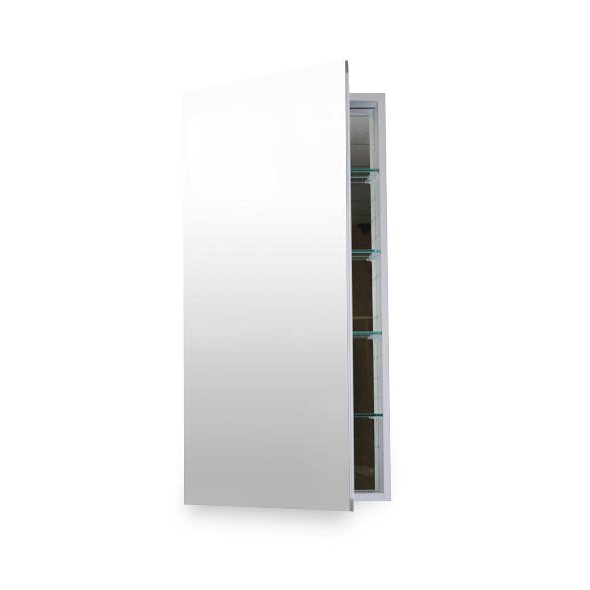 Flawless Bathroom MC 1236 Medicine Cabinet with Blum Soft Close Door Hinges, 12 x 36'', Anodized Aluminum