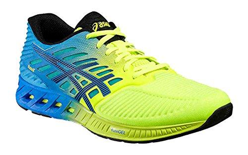 Asics Herren Fuzex Sneaker, Blau, UK Blau Gelb