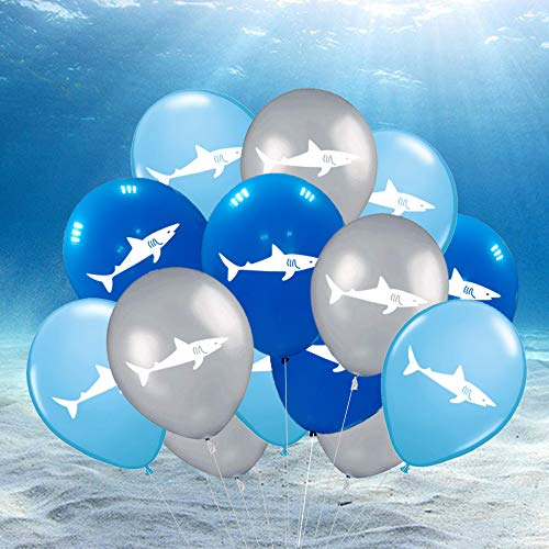 Shark Latex Balloons - Under the Sea/Pool/Beach/Kids Birthday Party Supplies Decorations(36 PCS) by CocoHut