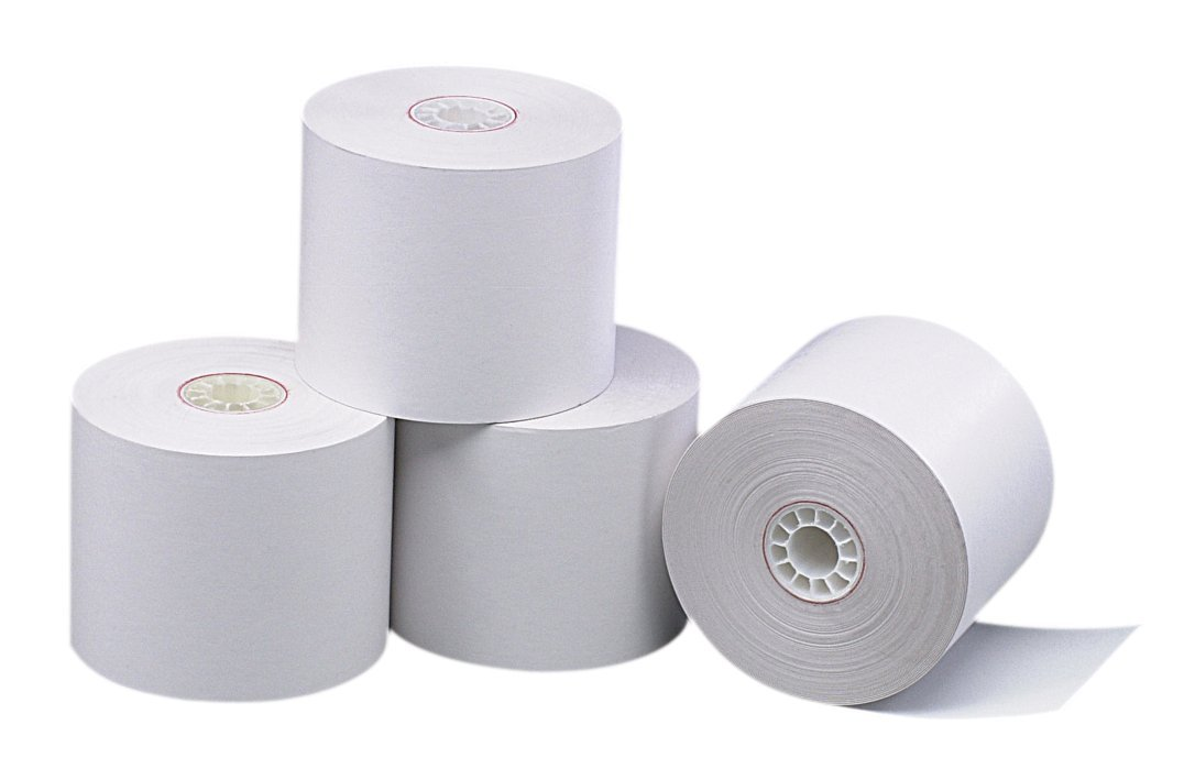 PM Company Perfection POS Black Image Thermal Rolls, 2.25 Inches X 230 Feet, White, 50 per Carton (05225)