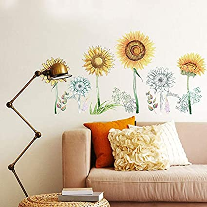 Amazon.com: Wall Sticker ZOZOSO Simulation Hand Painted ...