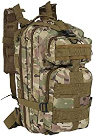 Tactical Military Backpack 30L Outdoor Hiking Trekking Camping Travel Backpack, Combat Rucksack Sturdy Durable