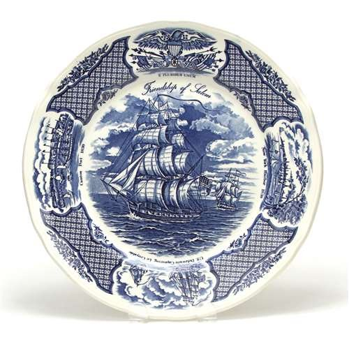 Fair Winds by Alfred Meakin, China Dinner Plate, Blue