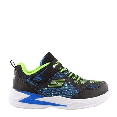 6a4ad688cd2e24 Skechers Kids Boys  Erupters III-DERLO Sneaker Black Blue Lime 5 Medium