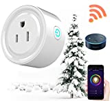 Cyber Monday Prime Sale Deal Day 2017-Wireless Mini Smart Plug Outlet, Works with Google Home,WiFi Smart Socket Outlet Remote Control,No Hub Required