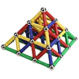 Tplay Magnetics Building Set Strong Magnet Sticks Games Colorful Magnetic Toys Durable Sticks Toys For Kids Boys Educational Toy Set Gift 60 Piece