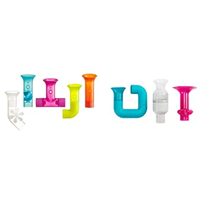 Boon Building Bath Pipes Toy Set, Set of 5 with Tubes Builder Bath Toy Set : Baby