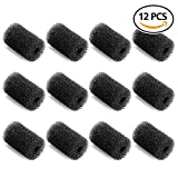 #3: GiBot 12 Pack Professional Sweep Hose Scrubber Tail Replacement Scrubbers Fits Polaris 180, 280, 360, 380, 480, 3900 Sport Vac-Sweep Pool Cleaner Sweep Hose Scrubber 9-100-3105, Black