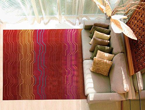 Sunburst Contemporary Area Rugs (Nourison Contour (CON04) Sunburst Rectangle Area Rug, 8-Feet by 10-Feet 6-Inches (8' x 10'6