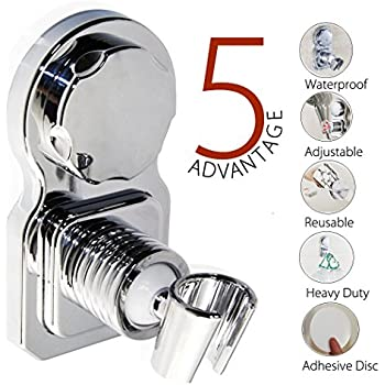 bopai vacuum suction cup shower head wall mount holder removable handheld showerhead bidet. Black Bedroom Furniture Sets. Home Design Ideas