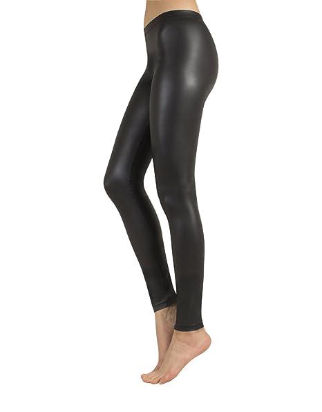 Calzitaly Jeggings Leggings Nero Finta Donna Pantaloni Pelle wgTS6xwC
