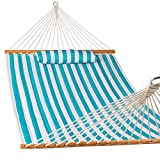 Lazy Daze Hammocks Quilted Fabric Double Size Spreader Bar Heavy Duty Stylish Hammock Swing Pillow Two Person